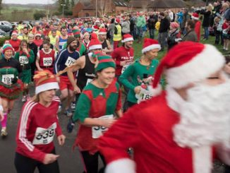 Participants at last year's Christmas Pudding Run