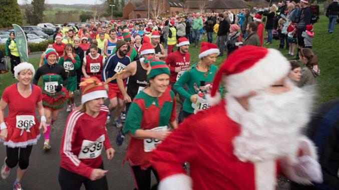 Participants at last year's Christmas Pudding Run
