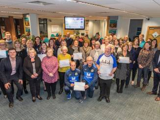 The winning groups in the 2018 Vernon Building Society Community Awards