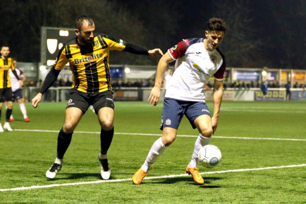 Elliot Osborne. Maidstone United FC 0-3 Stockport County FC. Buildbase FA Trophy Quarter-Final replay. 26.2.19