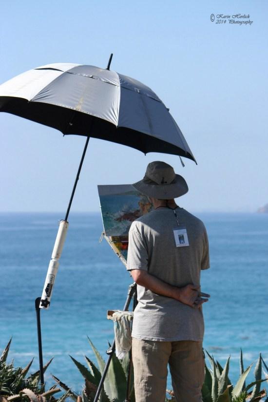 Laguna Beach Plein Air Beach Painting by karinhorlick.com