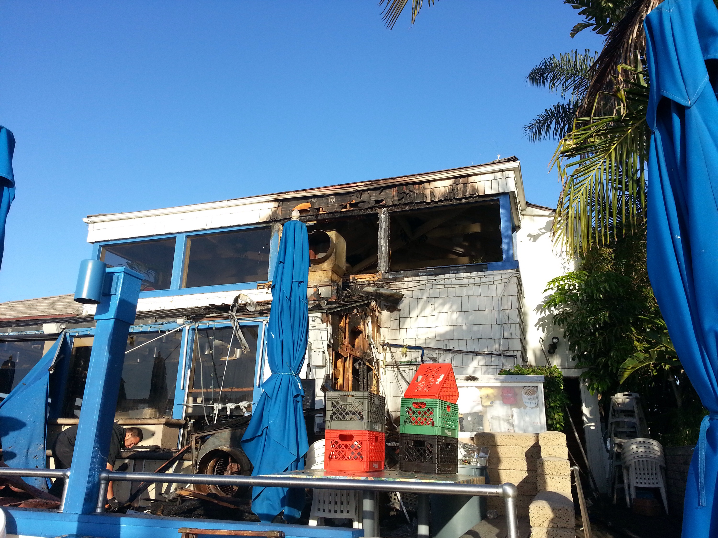 Fire At Wind And Sea Restaurant In Dana Point Harbor Overnight
