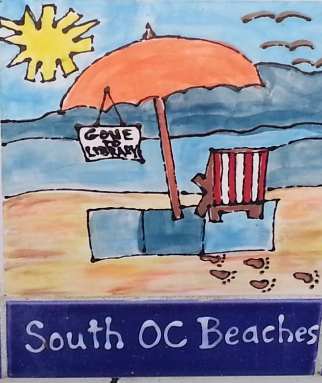San Clemente Friends of the Library Tiles www.southocbeaches.com