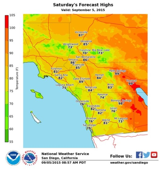 Labor Day 2015 weekend weather southocbeaches