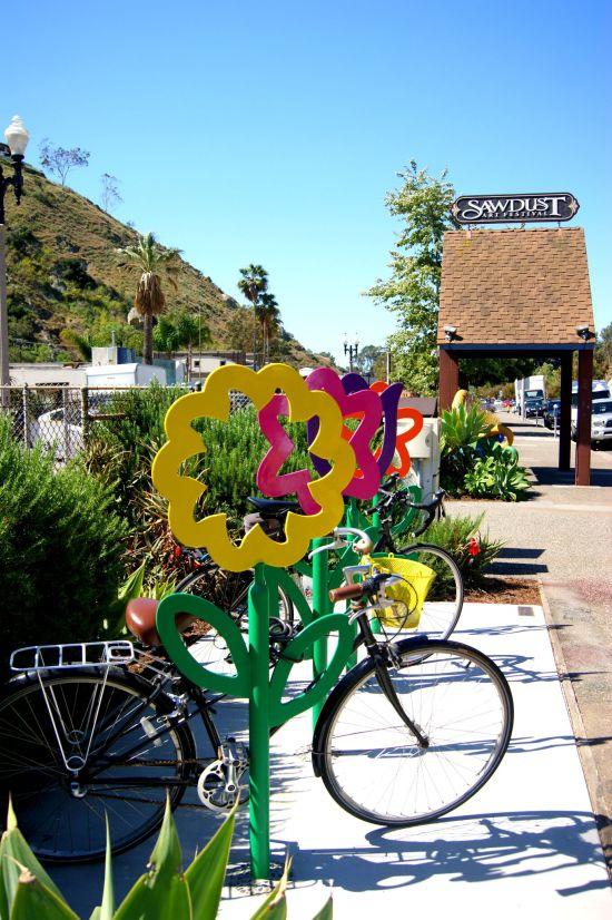 Bicycle Garden Courtesy of sawdustartfestival.org