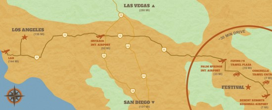 StageCoach Festival 2016 Directions Map