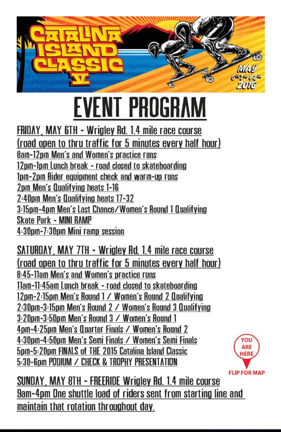 Catalina Island Classic 2016 Schedule
