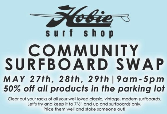 Hobie Surf Shop Dana Point Community Surfboard Swap May 2016