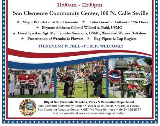 San Clemente Memorial Day Observance 2016