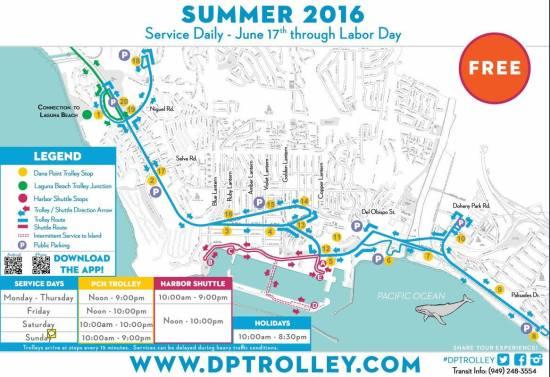 Dana Point Trolley Summer 2016 Map