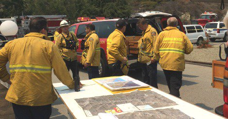 Laguna Canyon Fire June 26 2016 Courtesy of CIty Of Laguna Beach
