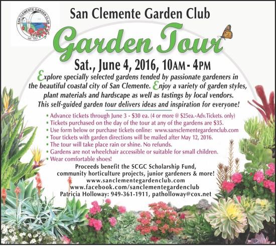 San Clemente Garden Club Tour June 4 2016