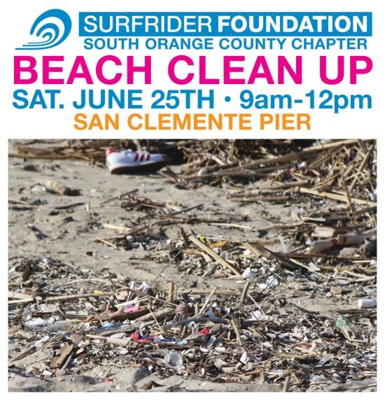 South Orange County Surfrider Beach Clean Up June 25 2016