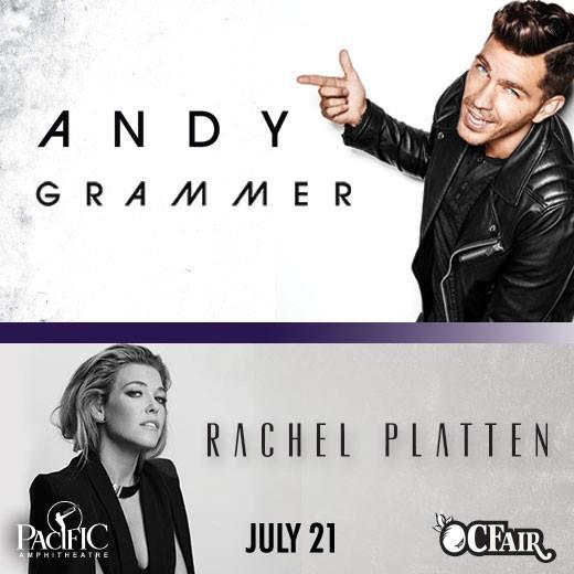 Andy Grammer and Rachel Platten at OC Fair July 21 2016
