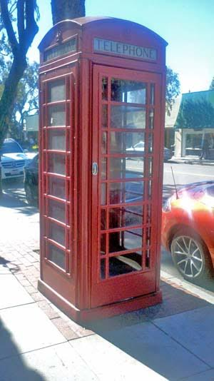 Laguna Beach Red Telephone Booth Temporary Art Installation 2016
