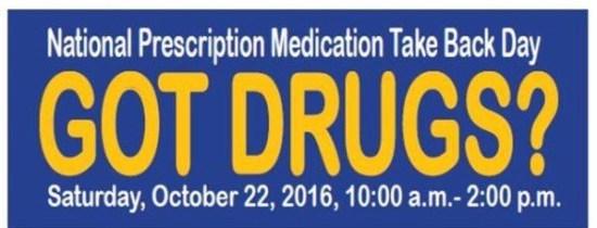 national-prescription-drug-take-back-day October 22 2016