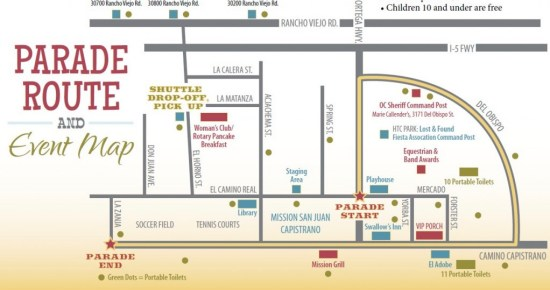 Swallows Day Parade Map March 25 2017