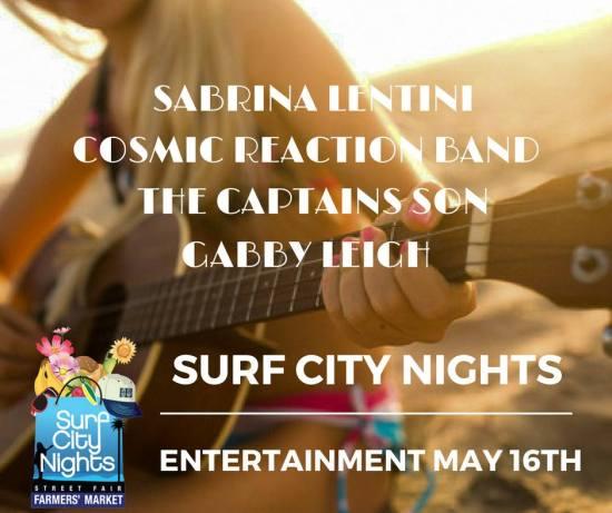 Huntington Beach Surf City Nights Music Lineup May 16 2017