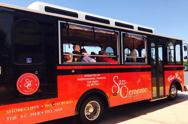 San Clemente Trolley by SouthOCBeaches.com