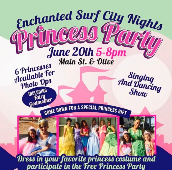 Huntington Beach Surf City Nights Princess Party June 20 2017