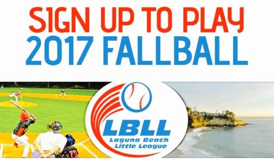 Laguna Beach Little League Fall 2017 Registration