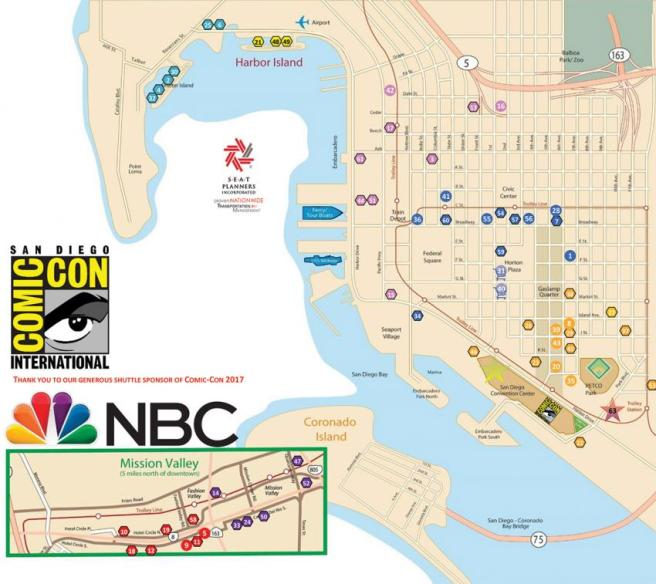 Comic Con 2017 Shuttle Map