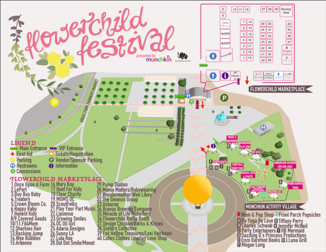 Flower Child Festival Venue Map September 17 2017