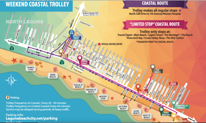 Laguna Beach Off Season 2017 Coastal Trolley Map
