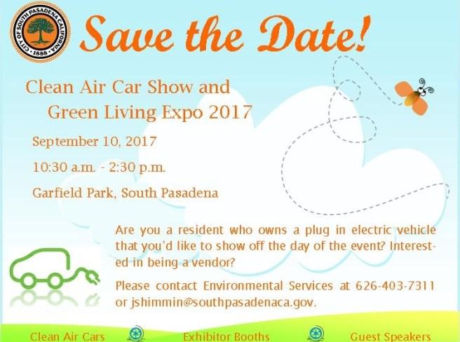 National Drive Electric Week 2017 South Pasadena September 10 2017
