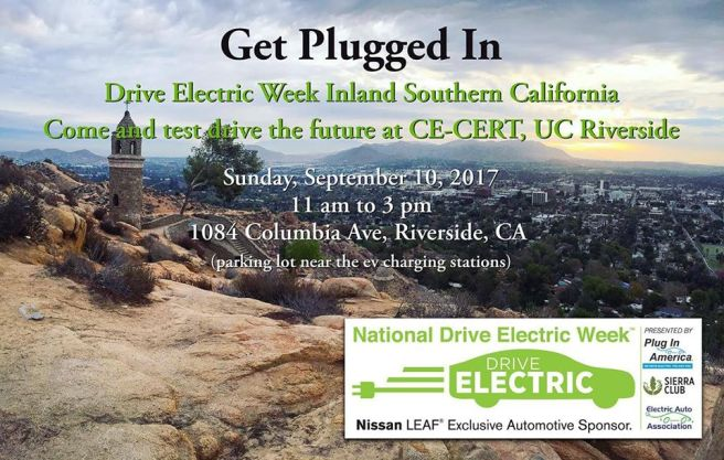 National Drive Electric Week Riverside CA September 10 2017