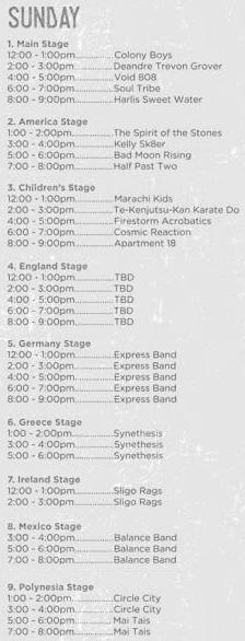 Orange Street Fair Entertainment Lineup Sunday September 3 2017