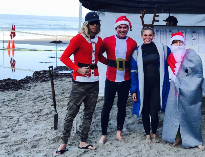 Dana Point Surfing Santas Contest 2017 Courtesy of SouthOCBeaches.com