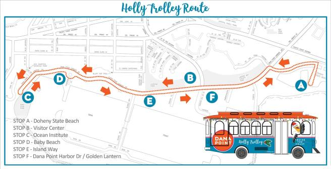 Dana Point Holly Trolley 2017 Map