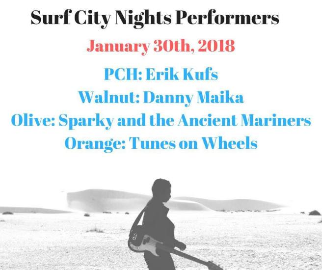 Huntington Beach Surf City Nights Music Lineup Janaury 30 2018