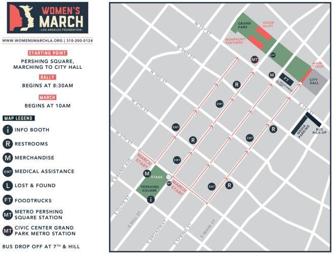 Women's March LA 2018 Event Guide Map