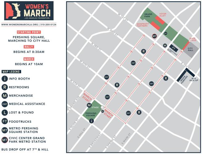 Women's March LA 2018 Event Guide Map