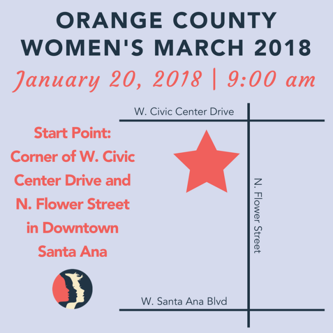 Women's March OC Janaury 20 2018 Map