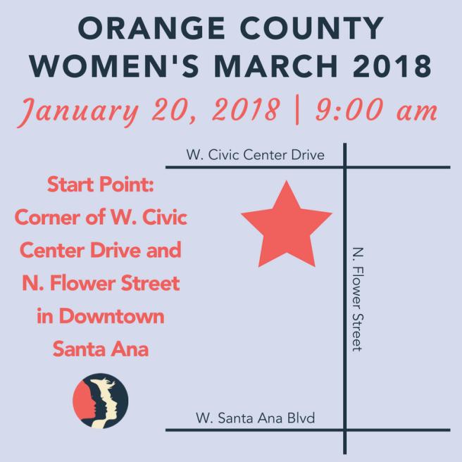 Women's March OC Janaury 20 2018 Map