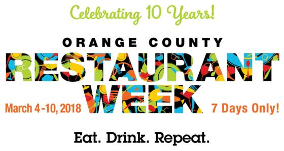 OC Restaurant Week March 2018