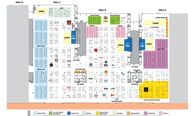 #WonderCon 2018 Anaheim California Exhibit Hall Map
