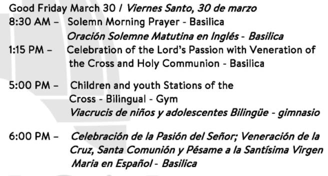 San Juan Capistrano Mission Basilica Good Friday March 30 2018