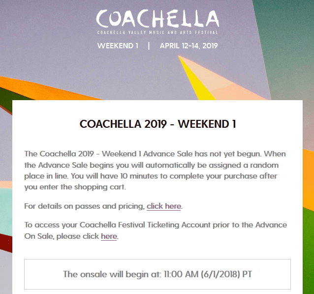 coachella 2019 tickets on sale friday june 1 2018 south oc beaches rh southocbeaches com how much do coachella passes cost how much do coachella tickets cost 2019