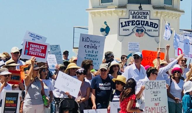 #FamiliesBelongTogether Laguna Beach June 30 2018 Courtesy of SouthOCBeaches.com