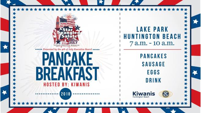 Huntington Beach Pancake Breakfast July 4 2018