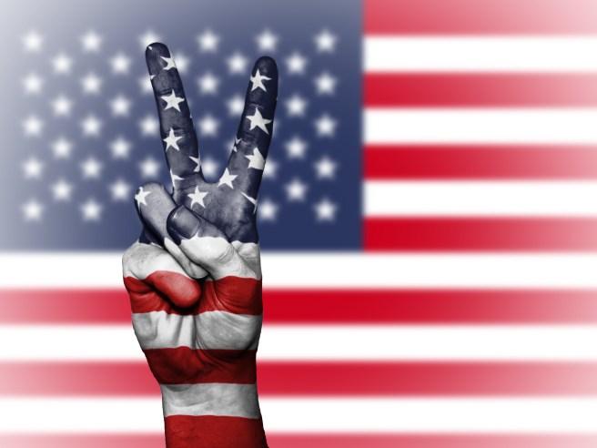 American Flag Peace Courtesy of Pexels at WordPress.com
