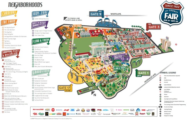 LA County Fair 2018 Map