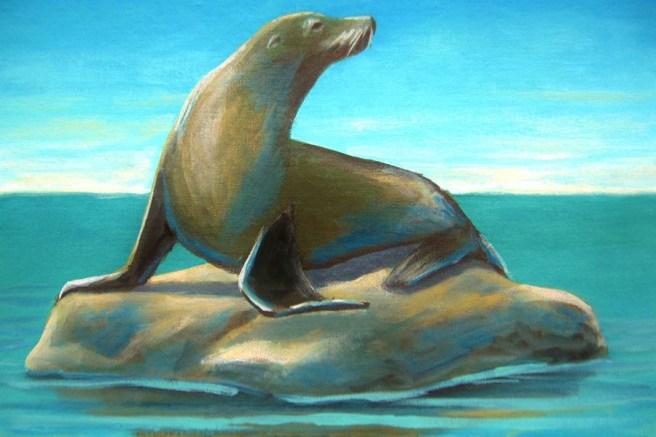 Sea Lion Wine & Painting Courtesy of foapom.com