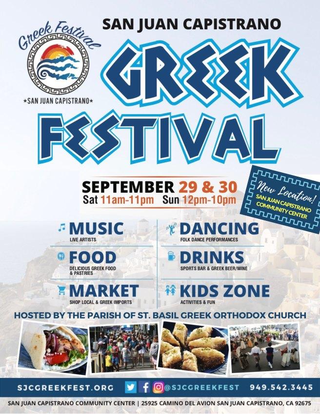 San Juan Capistrano Greek Festival September 2018