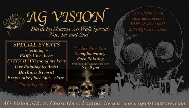 Laguna Beach AG Vision Gallery Day of the Dead Art Walk November 1 2018