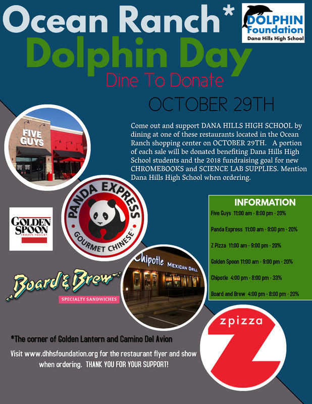 Dana Point Dana Hills High School Dolphin Day October 29 2018